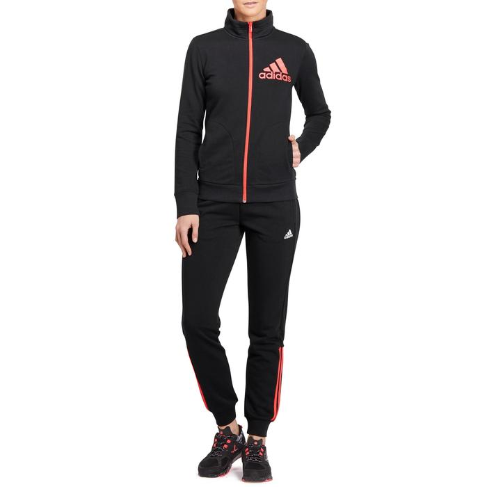 Veste gym pilates femme noire orange