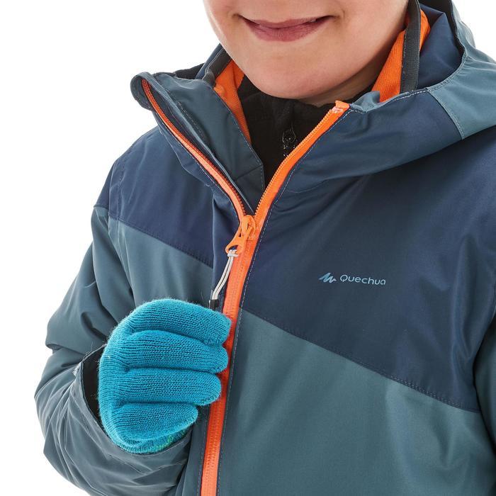 Veste chaude imperméable de randonnée Fille Hike 900 3en1 - 1189000