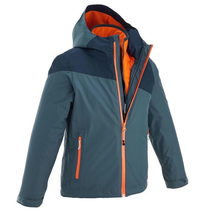 Veste chaude imperméable de randonnée Fille Hike 900 3en1 - 1189024