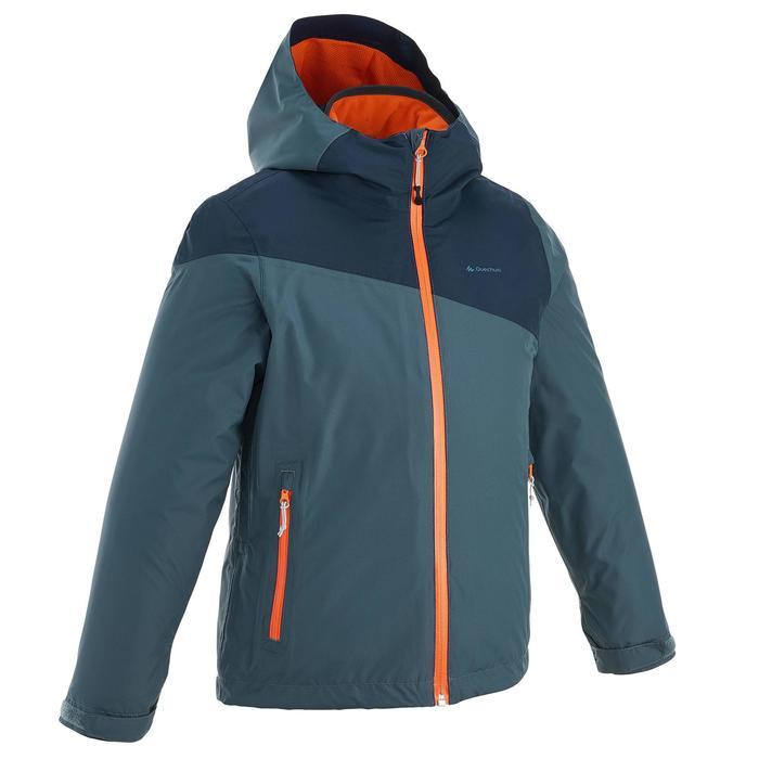 Veste chaude imperméable de randonnée Fille Hike 900 3en1 - 1189047