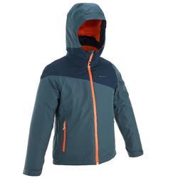 Warme en waterdichte 3-in-1 meisjesjas voor trekking Hike 900