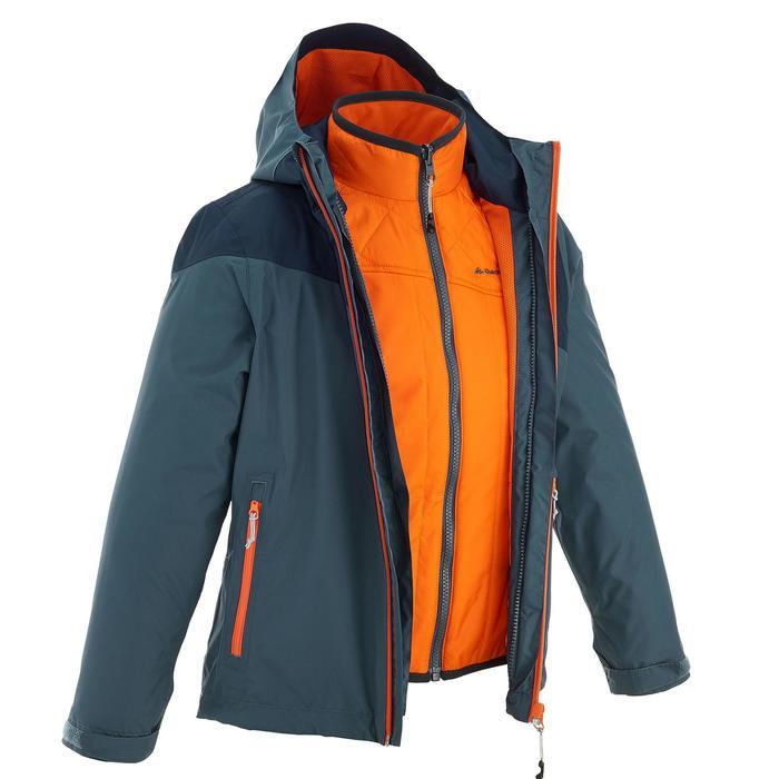 Veste chaude imperméable de randonnée Fille Hike 900 3en1 - 1189073