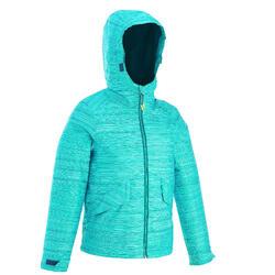 女童款保暖雪地健行外套SH100 (7-15歲)-藍色