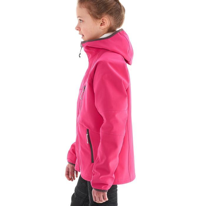Chaqueta Softshell de senderismo niña Hike 900 Rosa