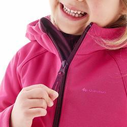 Softshelljacke Kleinkinder Mädchen rosa