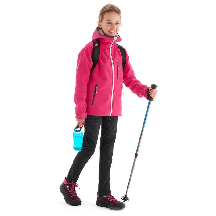 Softshell-wandeljas voor meisjes Hike 900 roze