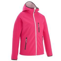 Hike 900 Girl's Hiking Softshell Jacket - Pink