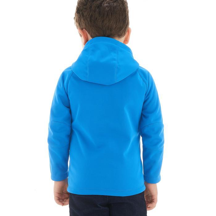 Softshell wandeljas voor kinderen blauw