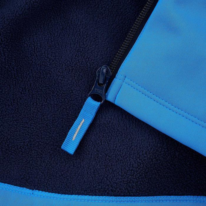 Veste softshell de randonnée KID bleu