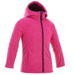 Chaqueta Softshell Montaña y Trekking Niña 2-6 años Hike900 Rosa