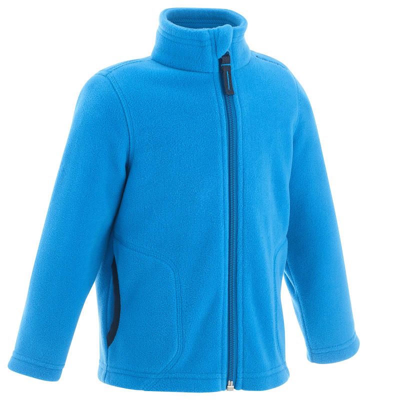Kids Hiking Fleece Jacket MH150 - Blue