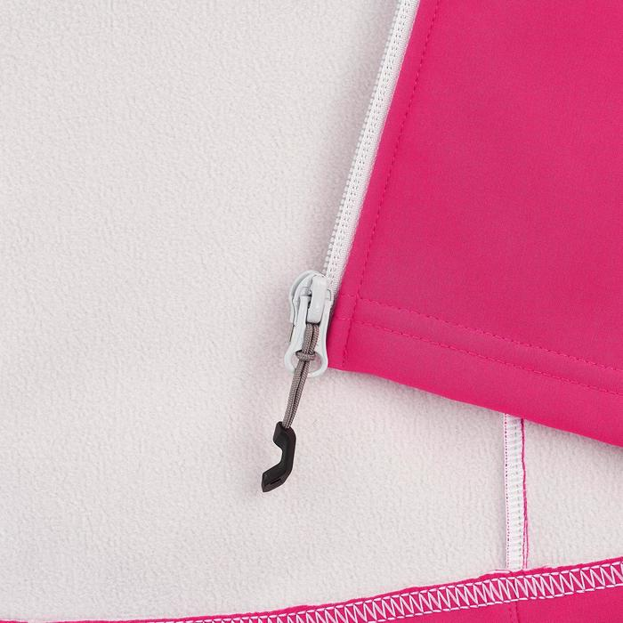 Softshelljacke Hike 900 Kinder Mädchen rosa