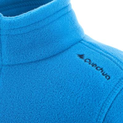 Kids' Hiking Fleece Jacket MH150 - Blue