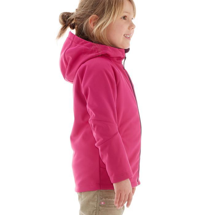 Softshell wandeljas voor kinderen roze