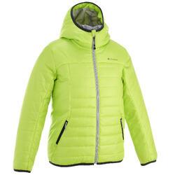 Boys' MH500 green hiking padded jacket