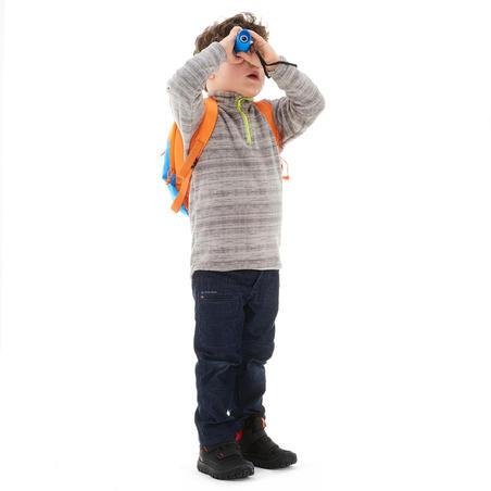 Children's hiking fleece MH120 grey