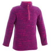 Vijoličast pohodniški pulover iz flisa MH120 za otroke