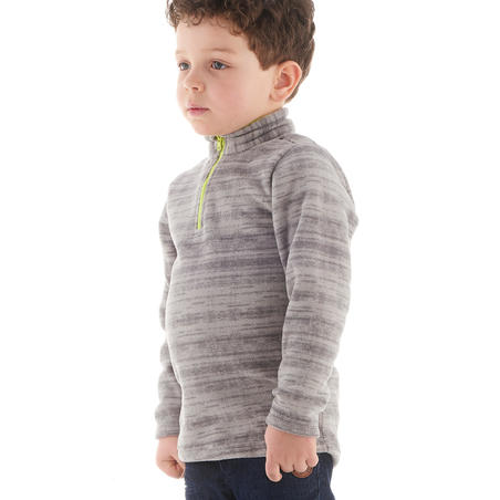 Children's hiking fleece MH120 grey