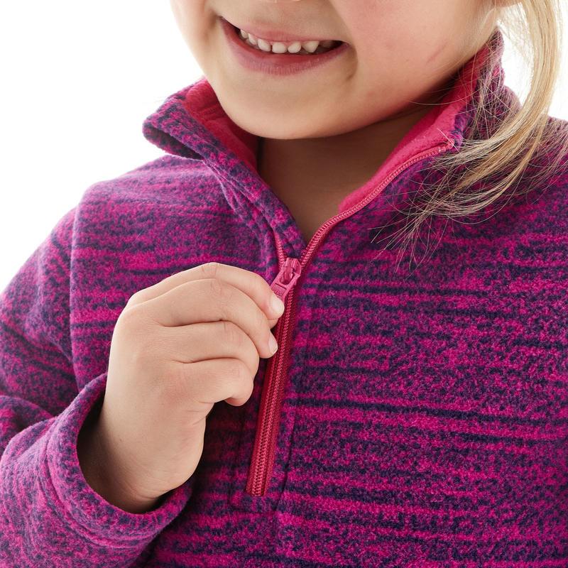 Polaire de randonnée enfant MH120 violette
