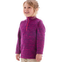 CHILDREN Ages 2-6 Years HIKING FLEECE MH 100 - PURPLE PRINT