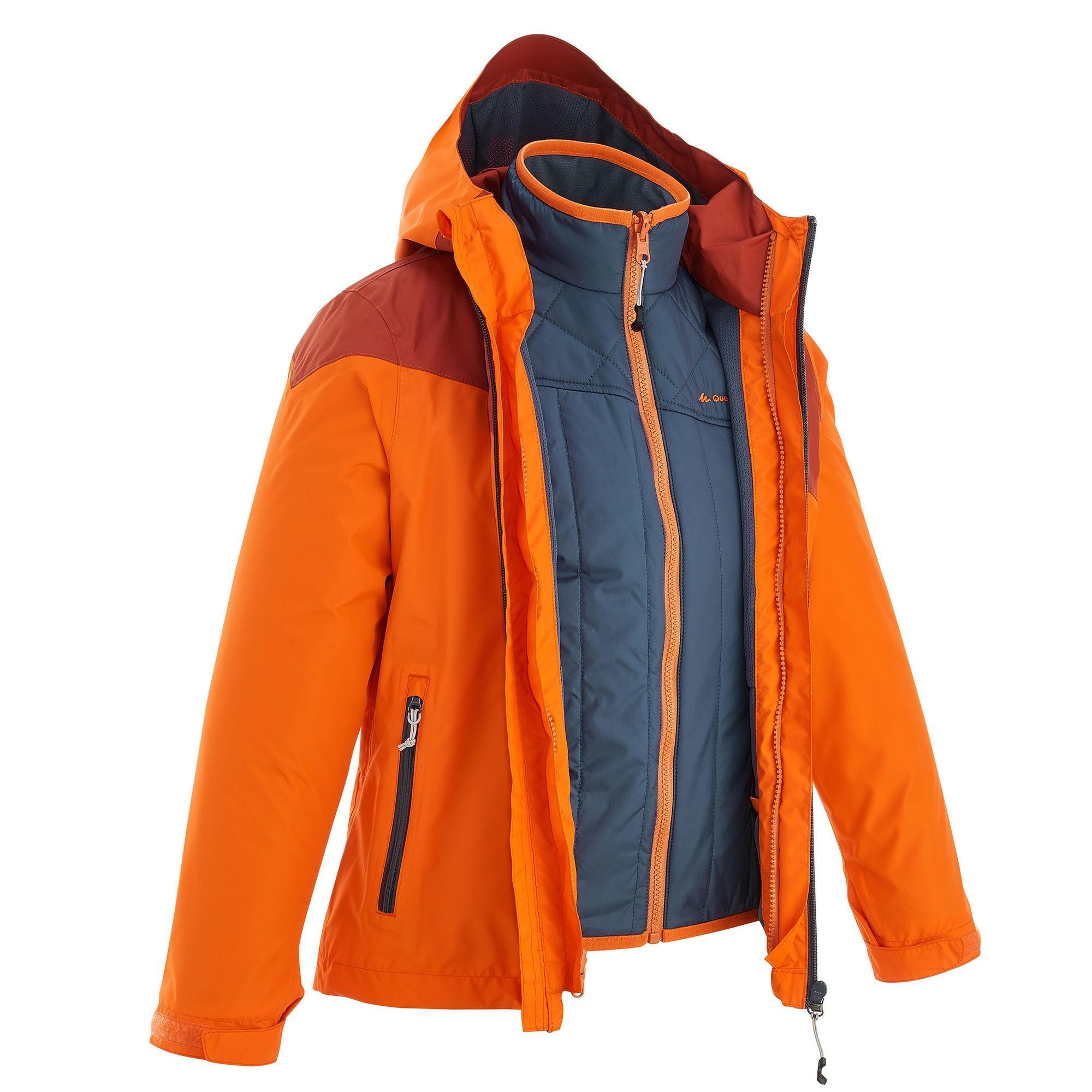 Hike 900 3 In 1 Boys Hiking Warm Waterproof Jacket