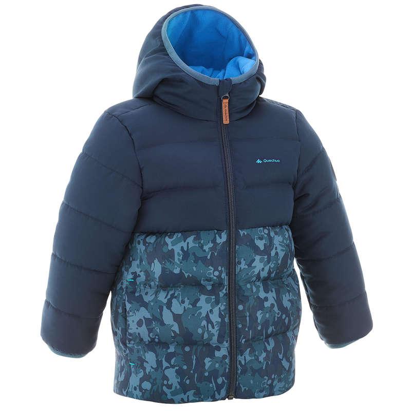 CHILDREN MOUNTAIN HIKING FLEECES, SOFT - Boy's padded jacket X-Warm -bl QUECHUA