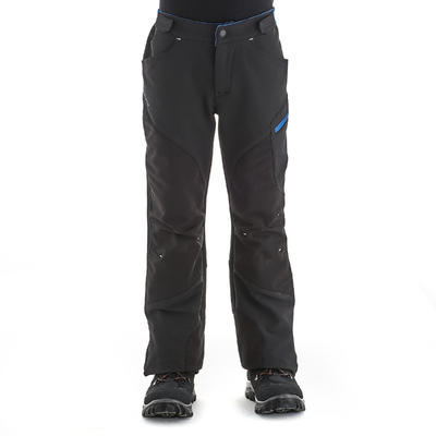 Children's hiking trousers MH500 7-15 yrs - black