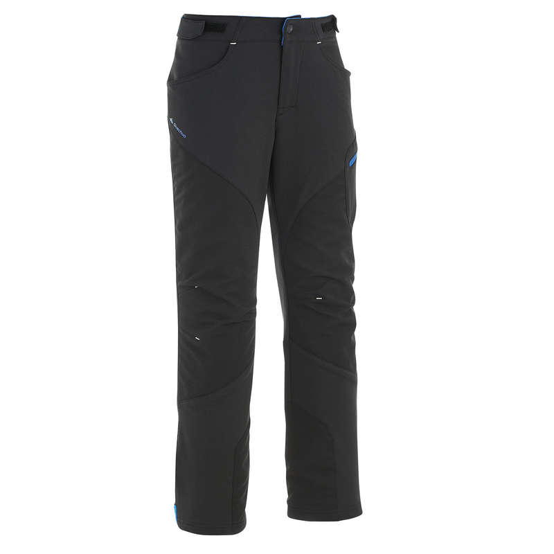 CHILDREN MOUNTAIN HIKING FLEECES, SOFT Hiking - Kids' Trousers MH550 - Black QUECHUA - Hiking Clothes