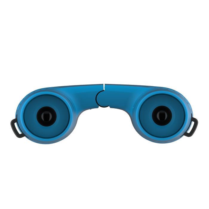 Jumelles de randonnée enfant sans réglage MH B100 grossissement x6 bleues