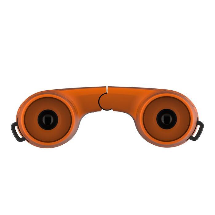Jumelles de randonnée enfant sans réglage MH B100 grossissement x6 orange