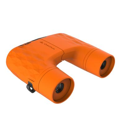 Kids' no-adjustment hiking binoculars MH B100 x6 magnification - Orange