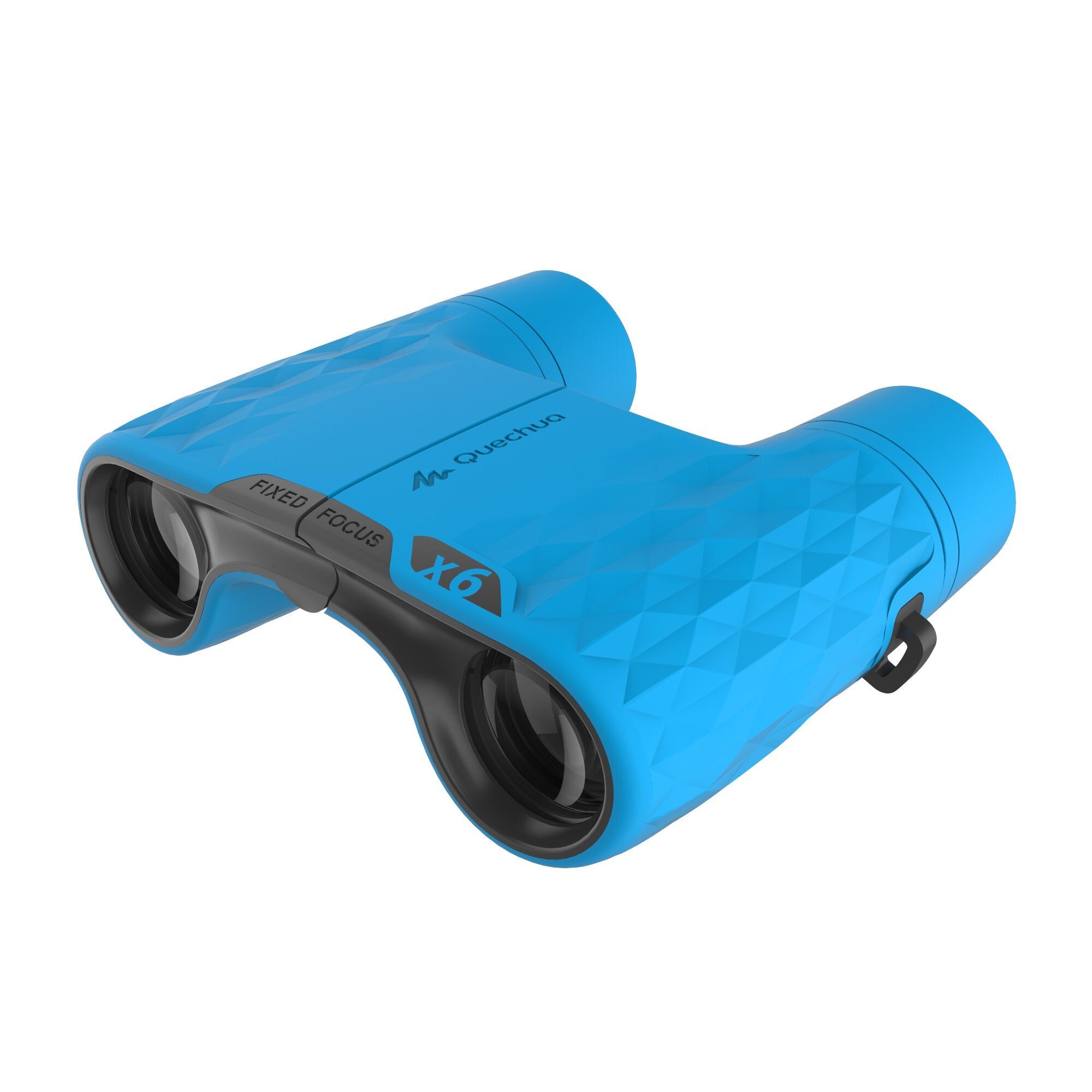 MH B100 Kids' Hiking Binoculars x6 Magnification No Adjustment - Blue