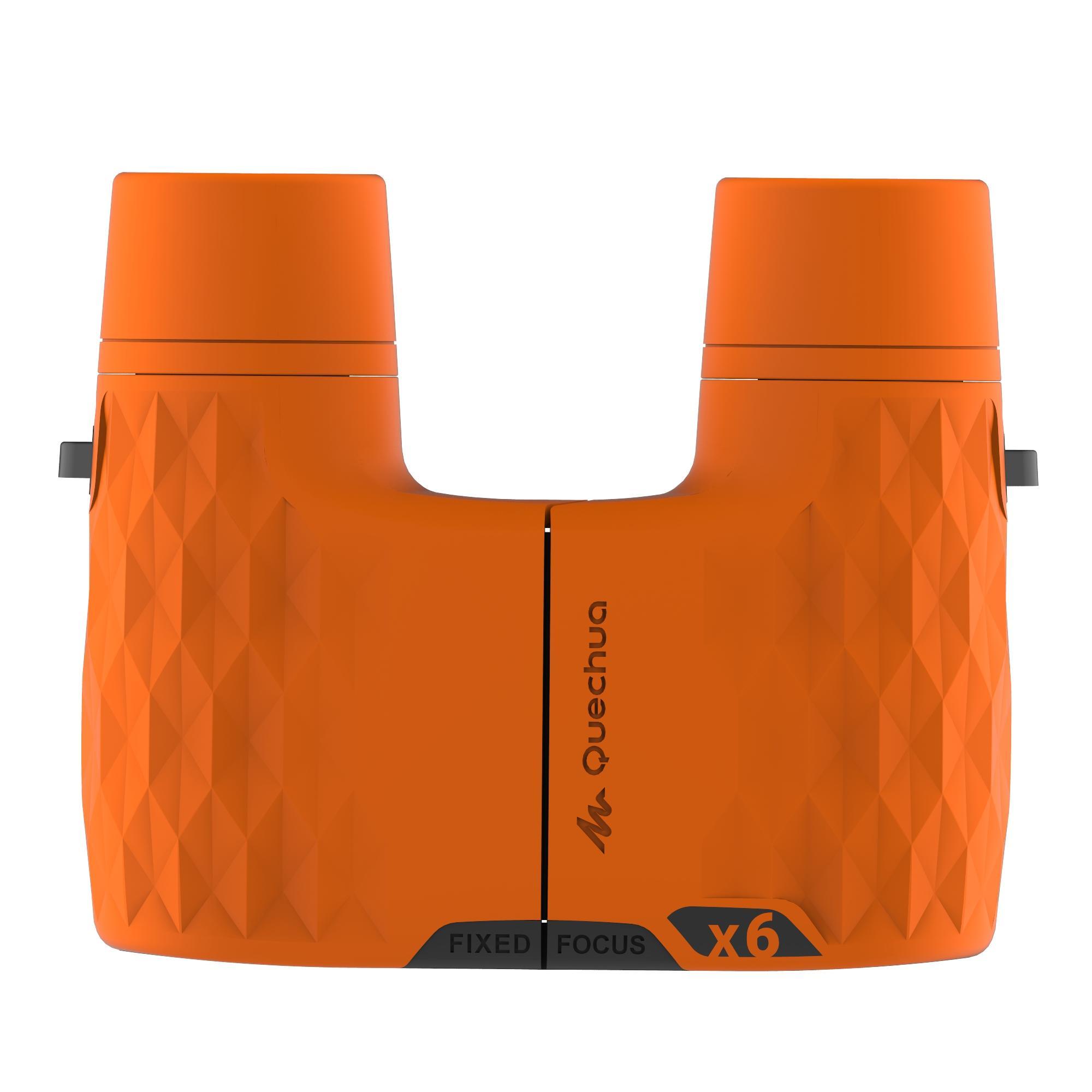 MH B100 Kids' Fixed Focus Binoculars x6 Magnification - Orange