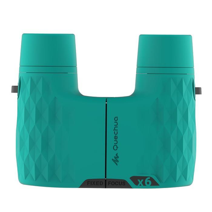 Prismáticos de senderismo niño sin ajuste MH B 100 aumento x6 verdes
