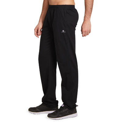 Pantalon jersey regular Gym & Pilates homme noir