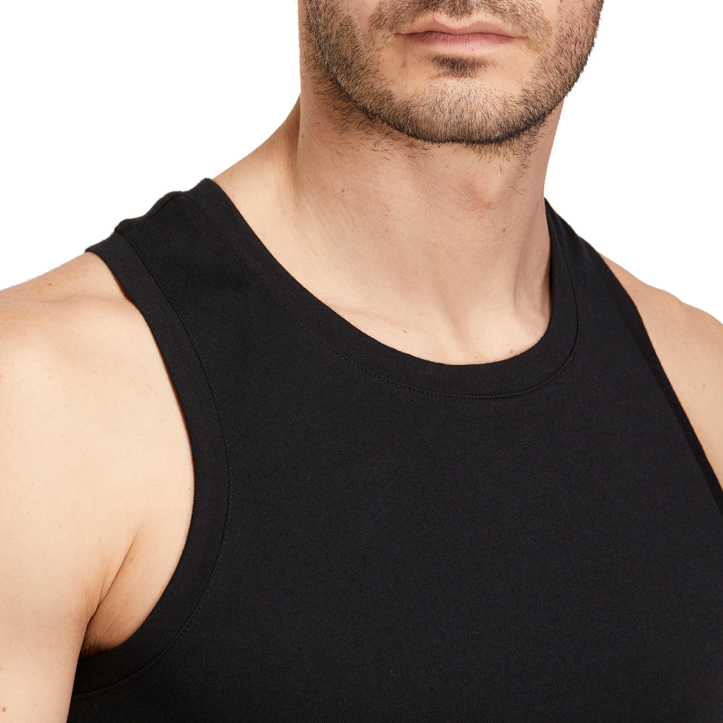500 Regular-Fit Gentle Gym & Pilates Tank Top - Black