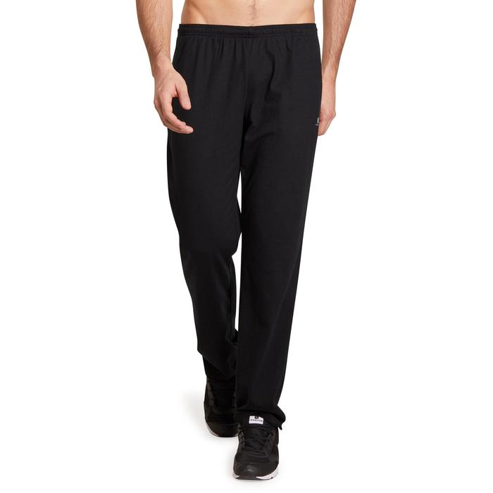 Pantalon jersey regular Gym & Pilates homme gris foncé - 1190235