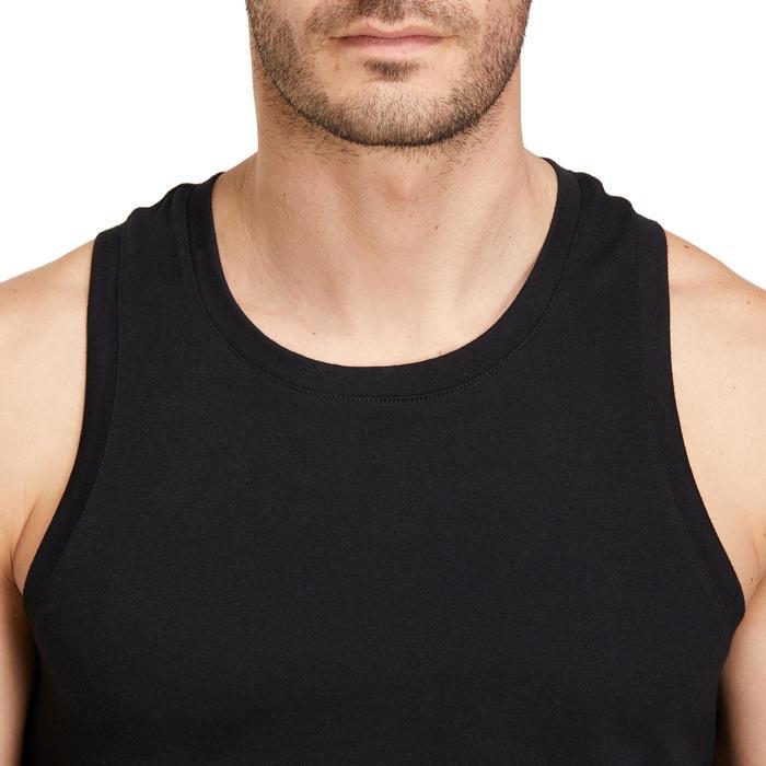 Mouwloos shirt 500 regular fit pilates en lichte gym heren zwart