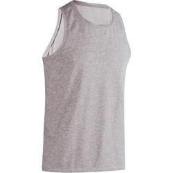 500 定期健身&皮拉提斯無袖背心 - 灰色