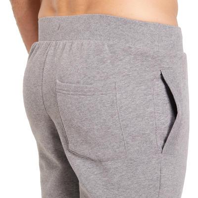 Pantalon molleton slim Gym & Pilates homme imprimé gris
