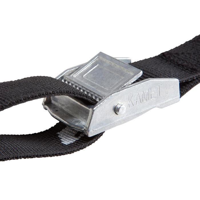 Kit 2 sangles de serrage 3 m noires - 119048
