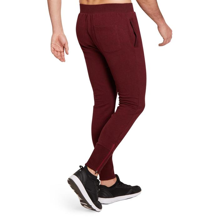 Pantalon skinny Gym & Pilates homme bordeaux