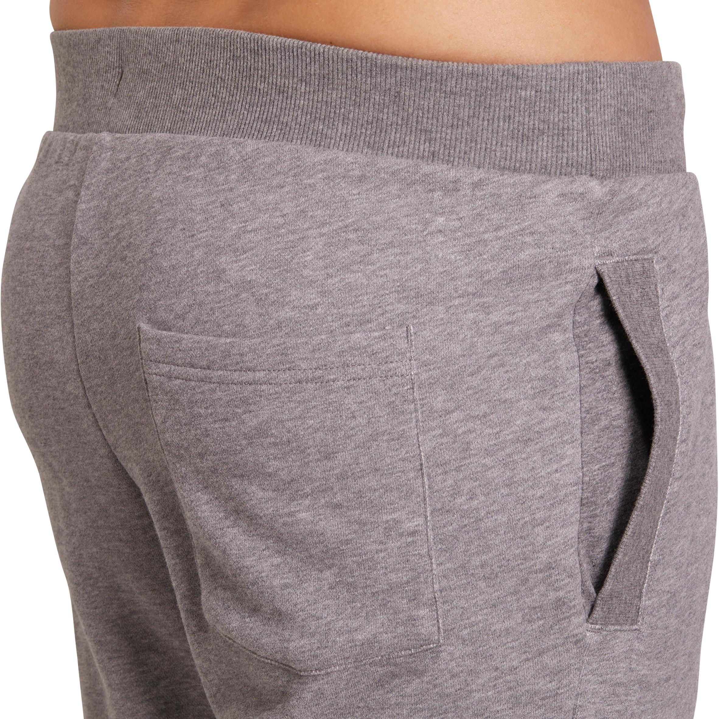 Slim-Fit Plush Loop Gym & Pilates Bottoms - Grey