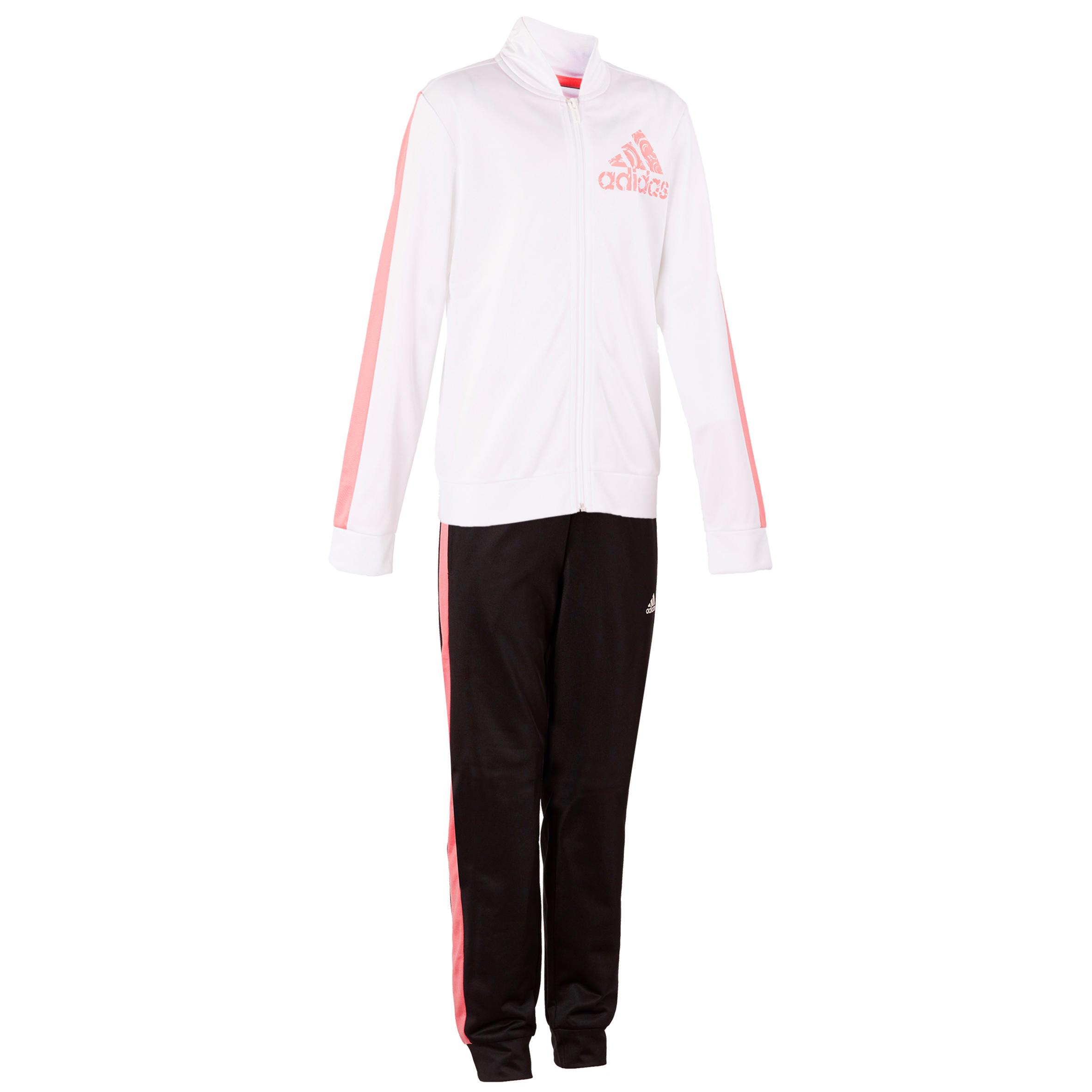 Adidas Trainingspak gym meisjes wit roze