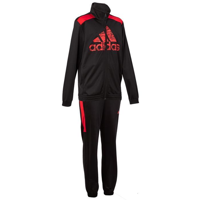 Fitness trainingspak voor jongens rood zwart - 1190827