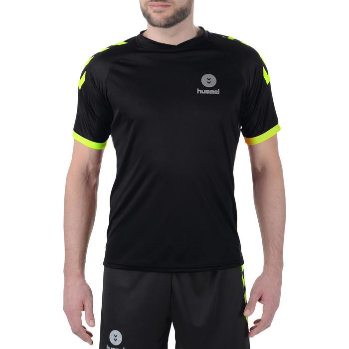 Maillot de handball Hummel Campaign homme noir/jaune, chevrons jaune 2017 - 1190847