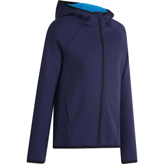 Veste chaude zippée capuche Gym garçon bleu