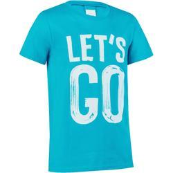 Jongens T-shirt met korte mouwen en opdruk voor gym