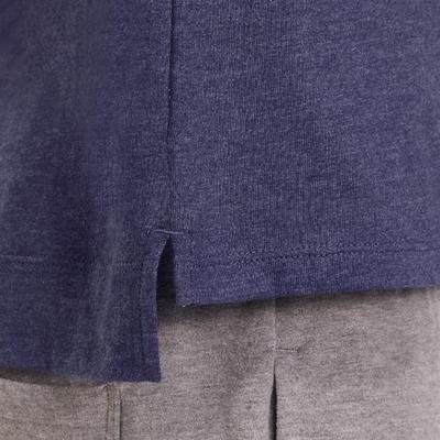 T-Shirt 500 manches longues Gym garçon imprimé bleu marine