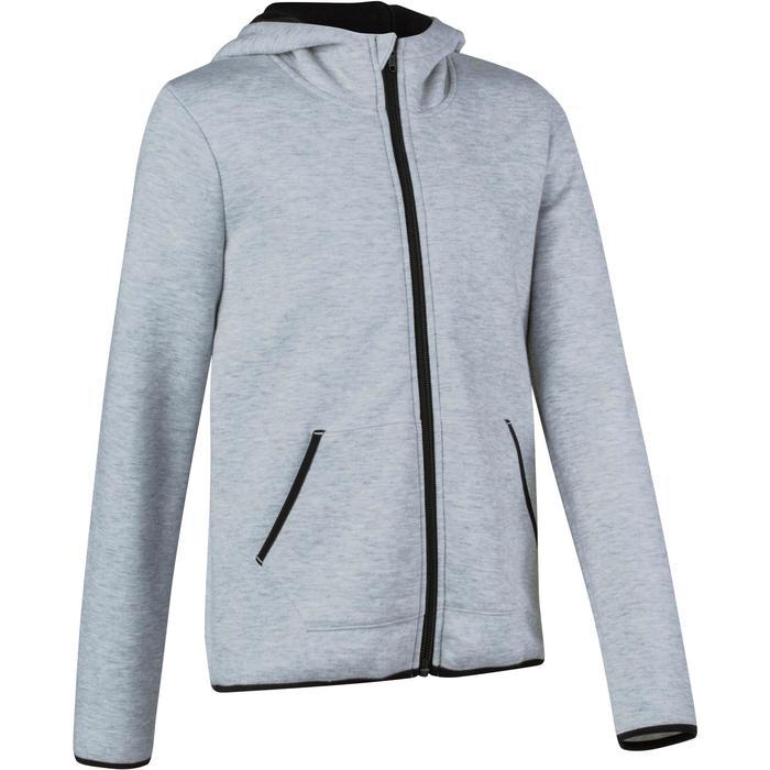 Veste chaude zippée capuche imprimé Gym fille - 1191005